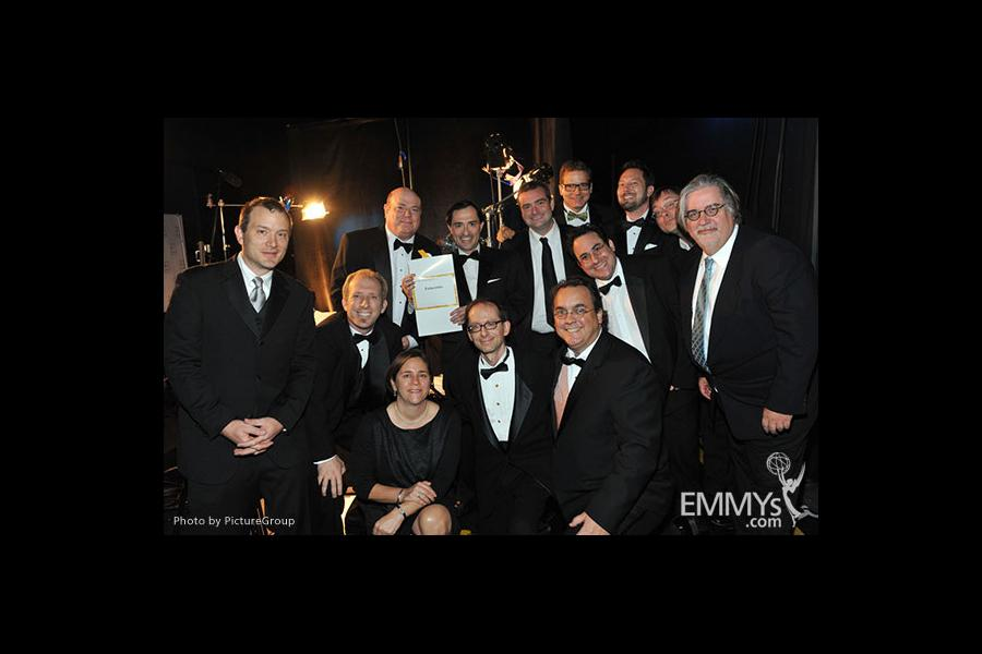 "Emmy award winning team from the ""Futurama"" backstage"