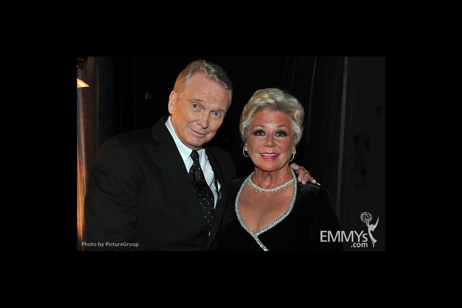 Bob Mackey (L) and Mitzi Gaynor pose backstage at the Academy of Television Arts and Sciences 2011 Primetime Creative Arts Emmys