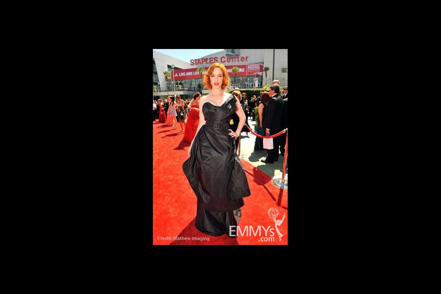 Christina Hendricks arrives at the 62nd Primetime Creative Arts Emmy® Awards