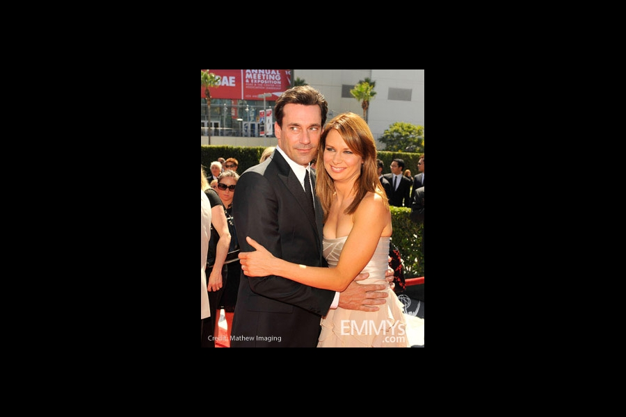 Jon Hamm and Mary Lynn Rajskub at the 62nd Primetime Creative Arts Emmy Awards