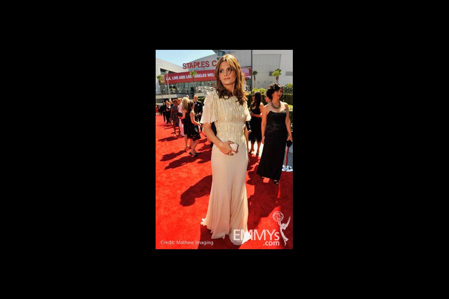 Stana Katic at the 62nd Primetime Creative Arts Emmy Awards