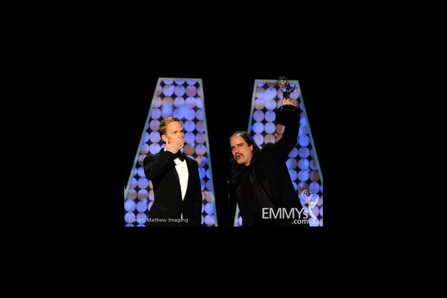Neil Patrick Harris and Glenn Weiss accept the Best Special Class Program 'Tony Awards' award