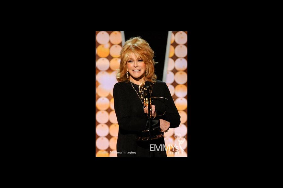 Ann-Margret accepts the Outstanding Actress In A Drama Series award onstage during the 62nd Primetime Creative Arts Emmy Awards