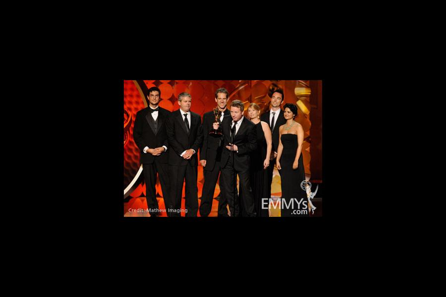 "Winners of Best Visual Effects in a Series for ""CSI: Crime Scene In"" onstage during the 62nd Primetime Creative Arts Emmy Awards"
