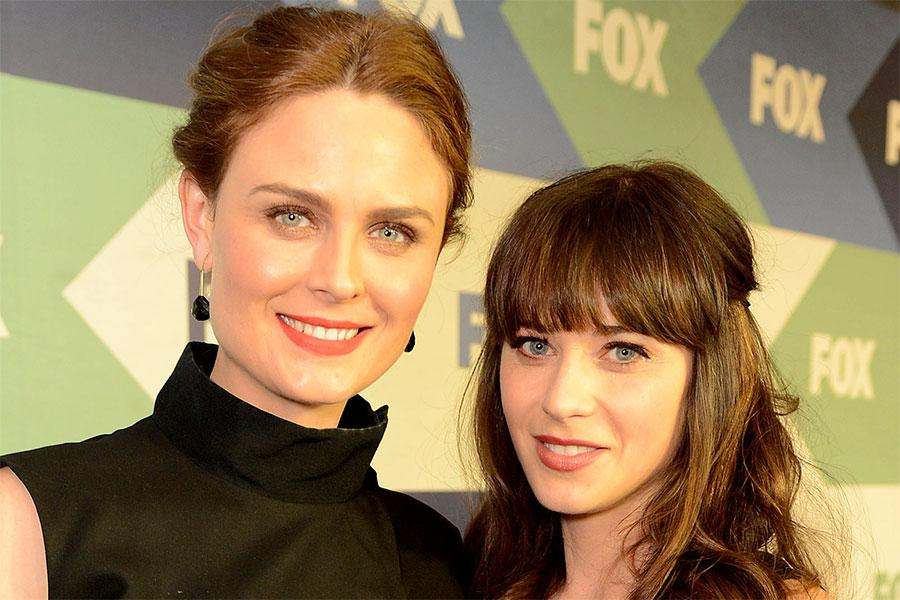 Emily Deschanel and Zooey Deschanel