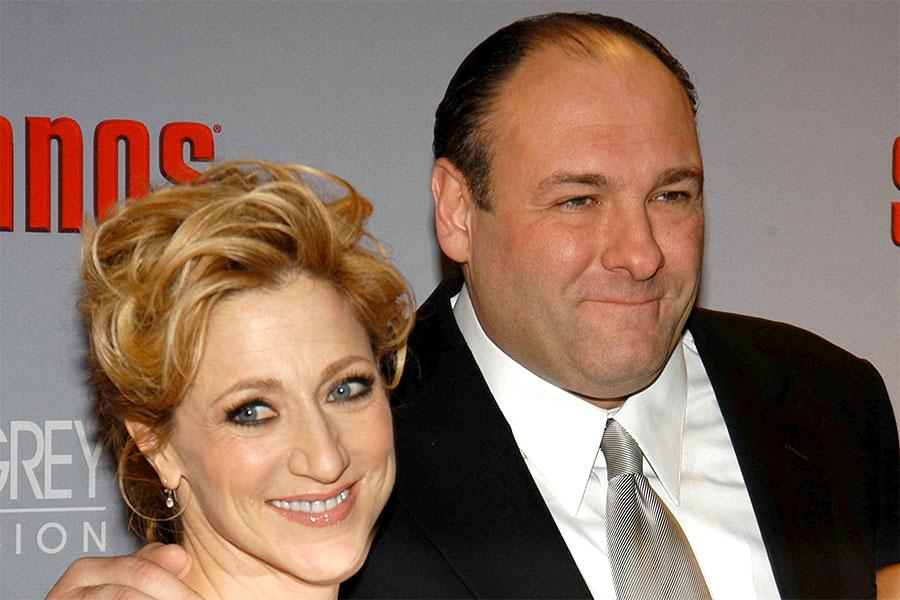 Edie Falco and James Gandolfini