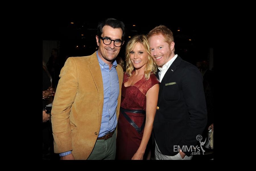 Ty Burrell, Julie Bowen and Jesse Tyler Ferguson at the 2013 Performers Emmy Celebration