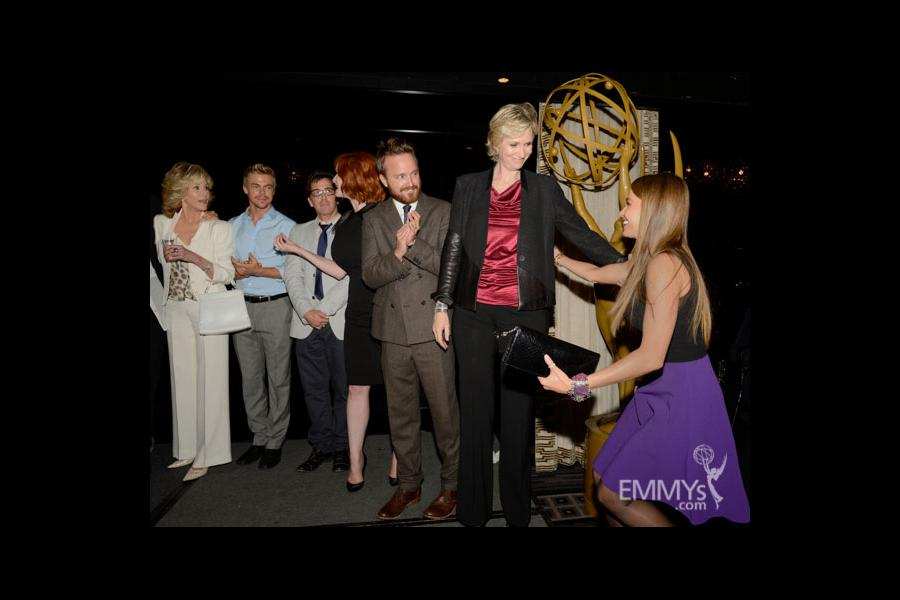 Jane Fonda, Derek Hough, Dan Bucatinsky, Christina Hendricks, Aaron Paul, Jane Lynch and Sofia Vergara