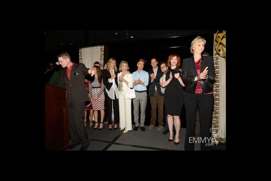 Bob Bergen and nominated actors at the 2013 Performers Emmy Celebration