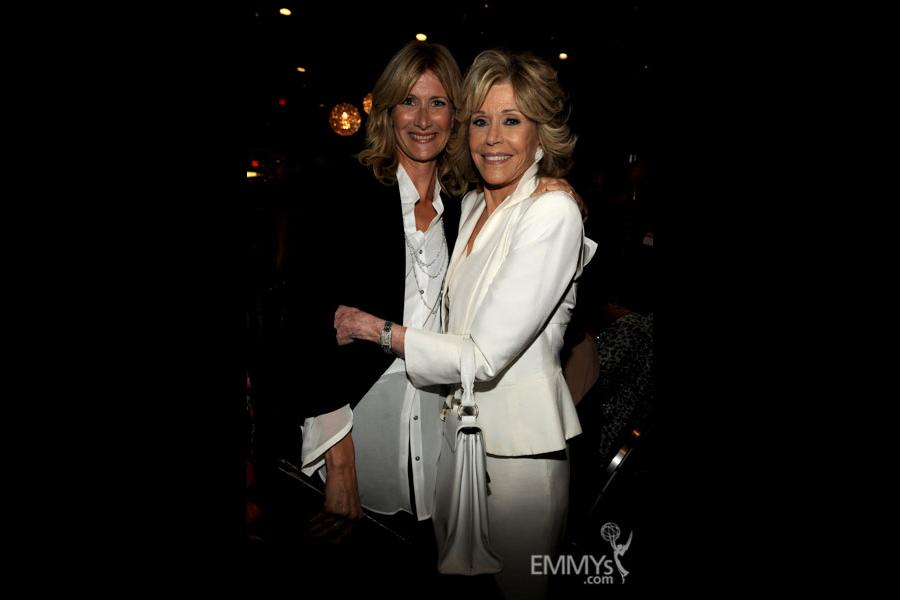 Laura Dern and Jane Fonda at the 2013 Performers Emmy Celebration