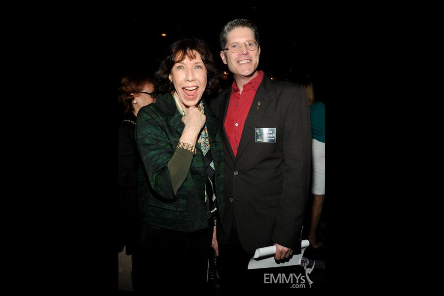 Lily Tomlin and Bob Bergen at the 2013 Performers Emmy Celebration