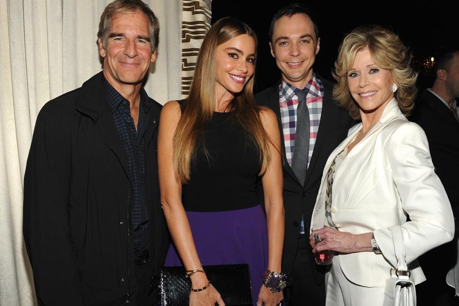 Scott Bakula, Sofia Vergara, Jim Parsons and Jane Fonda at the 2013 Performers Emmy Celebration