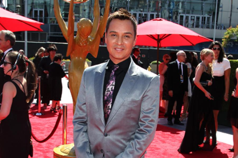 Darrell Redleaf-Fielder on the Red Carpet at the 65th Creative Arts Emmys