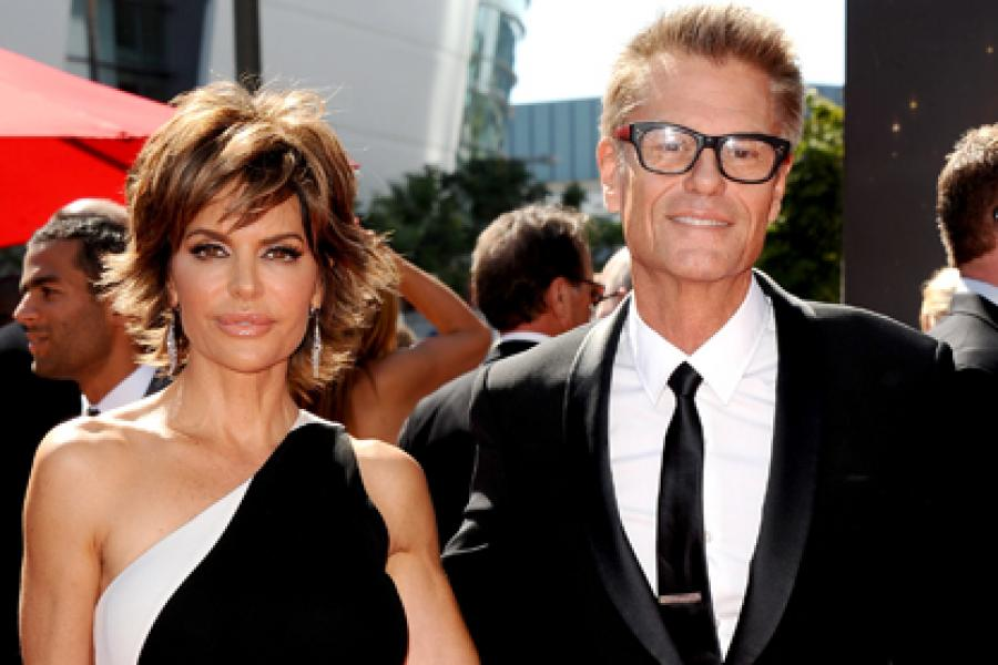 Lisa Rinna and Harry Hamlin on the Red Carpet at the 65th Creative Arts Emmys
