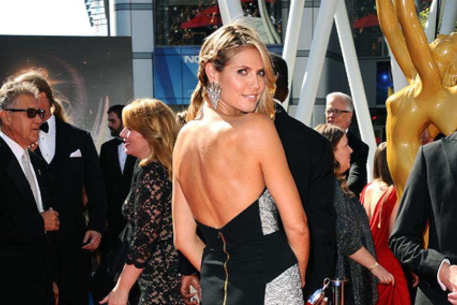 Heidi Klum on the Red Carpet at the 65th Creative Arts Emmys