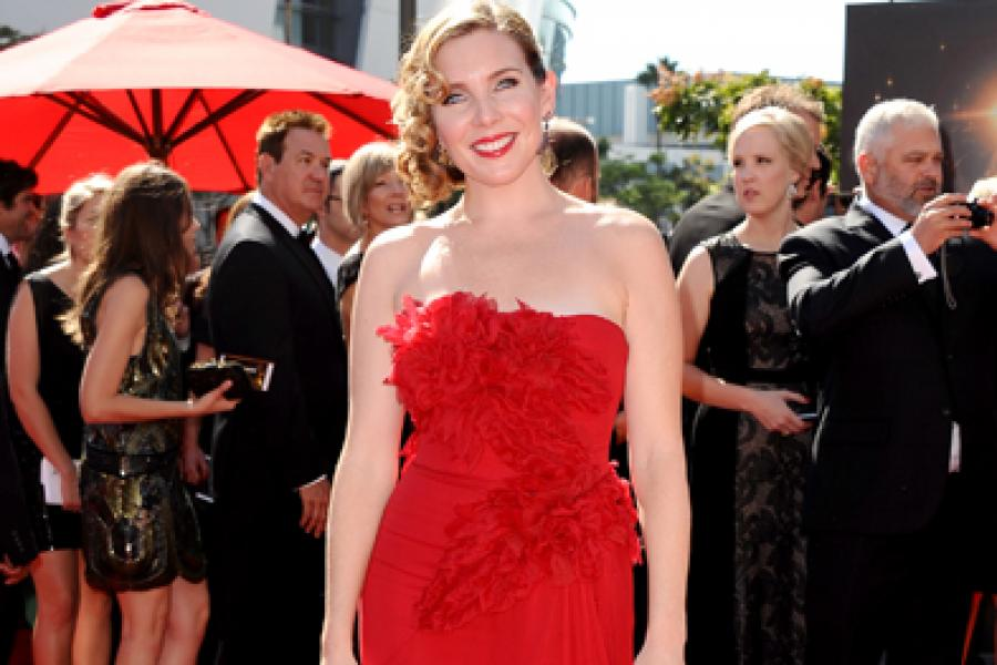 June Diane Raphael on the Red Carpet at the 65th Creative Arts Emmys