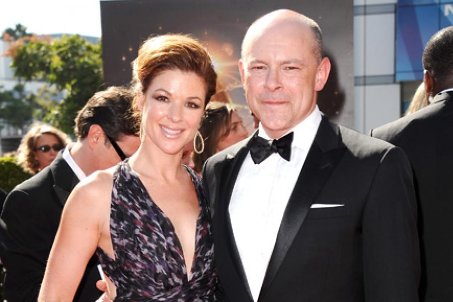 Sandra Corddry and Rob Corddry on the Red Carpet at the 65th Creative Arts Emmys