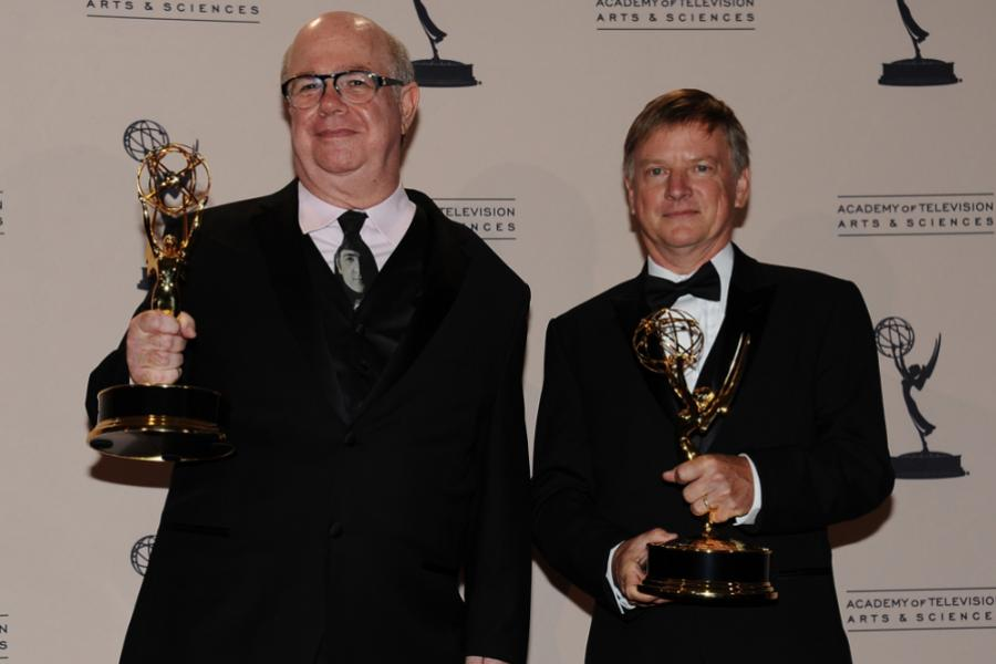 Larry Blake and Dennis Towns at the 65th Creative Arts Emmys