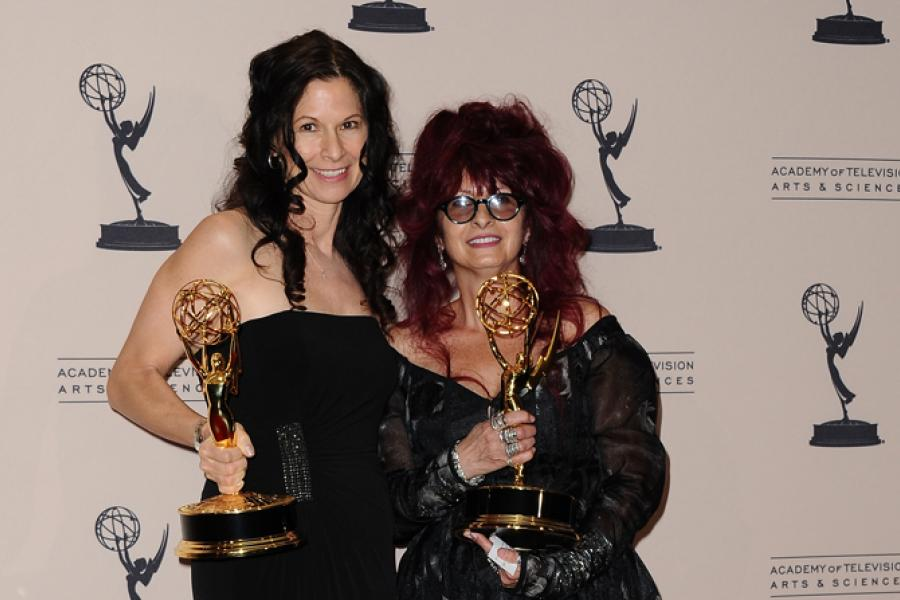 Deborah Lamia Denaver and Deborah Rutherford at the 65th Creative Arts Emmys