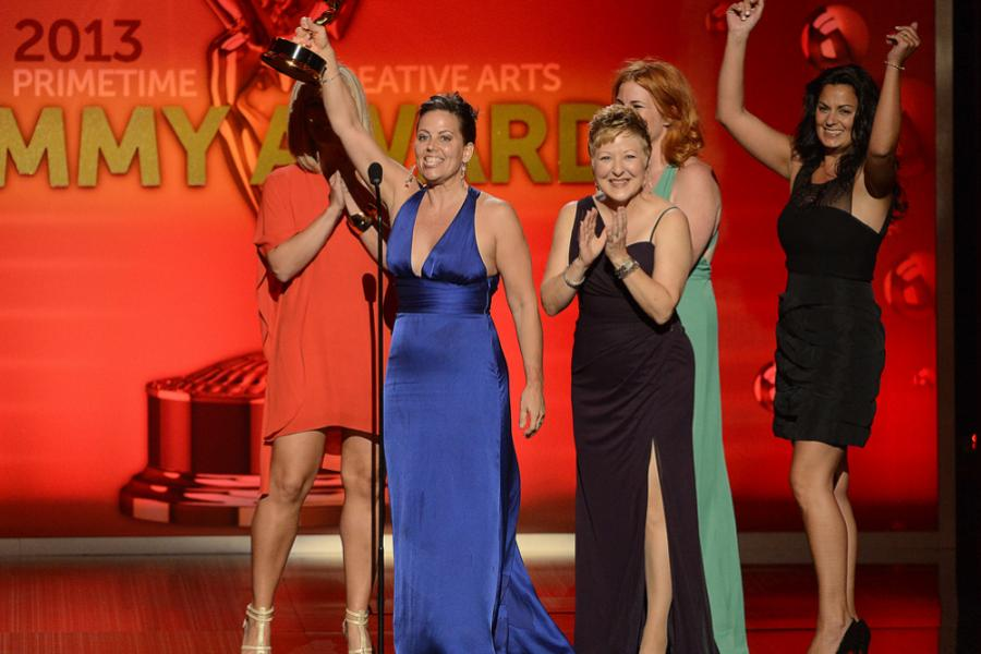 Creative team of Saturday Night Live accepts the award for Outstanding Hairstyling For A Multi-Camera Series Or Special