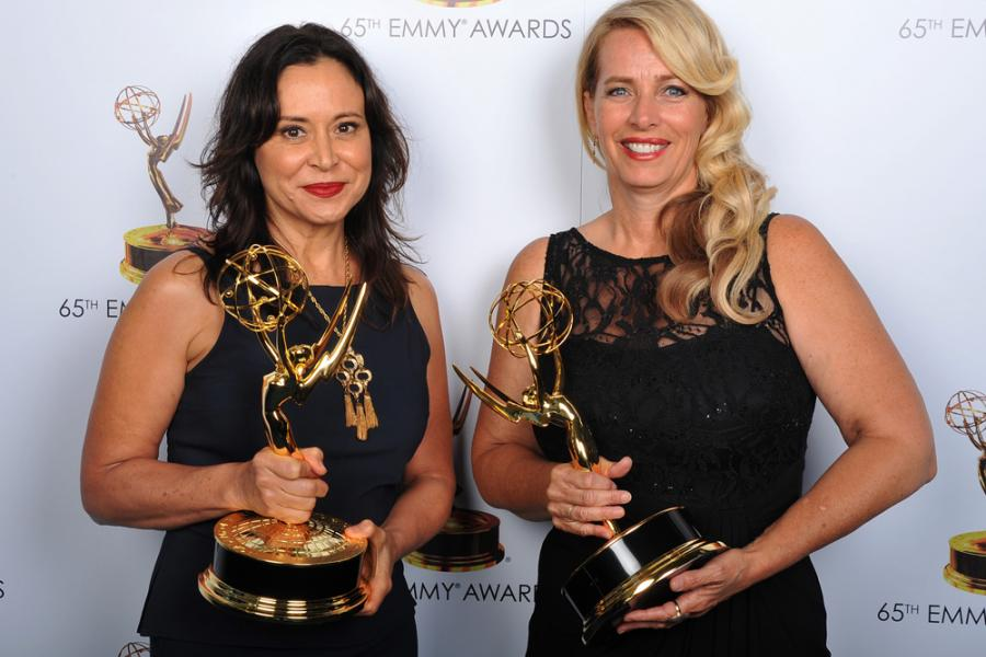 Marie Larkin and Yvette Stone at the 65th Creative Arts Emmys