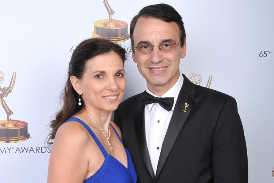 Gina Morrone and Frank Morrone at the 65th Creative Arts Emmys