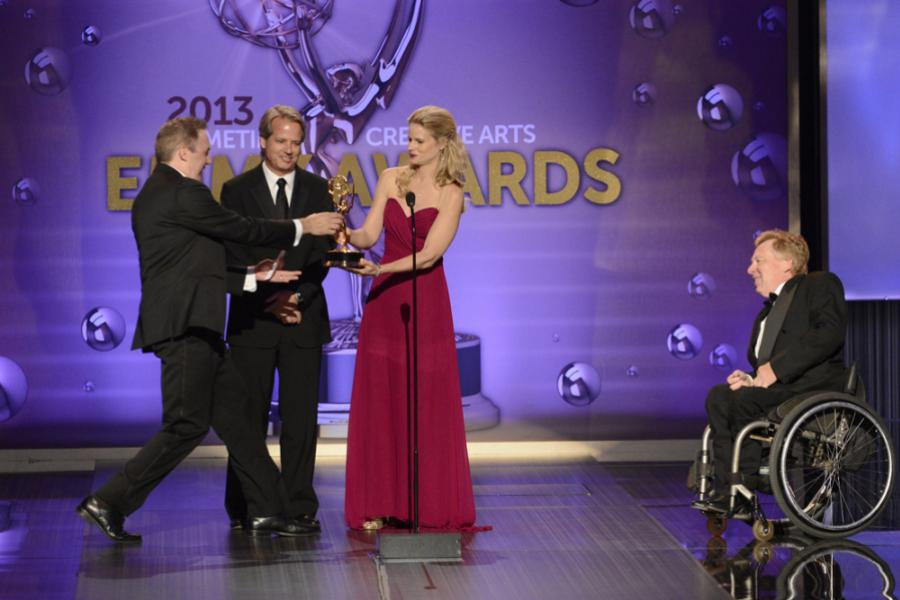 Creative team of American Horror Story accept the award for Outstanding Sound Editing for a Miniseries, Movie or a Special