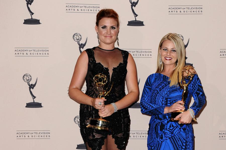 Marina Toybina and Courtney Webster at the 65th Creative Arts Emmys