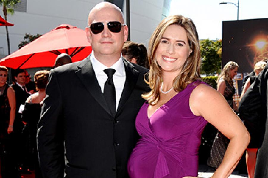 Trevor Morris and Zoe Morris on the Red Carpet at the 65th Creative Arts Emmys