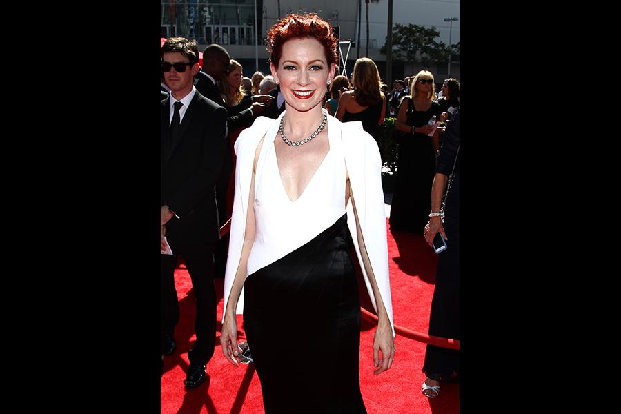 Carrie Preston on the Red Carpet at the 65th Creative Arts Emmys