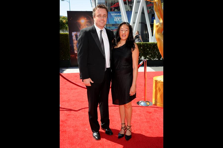 Sean Callery and Debbie Dao on the Red Carpet at the 65th Creative Arts Emmys