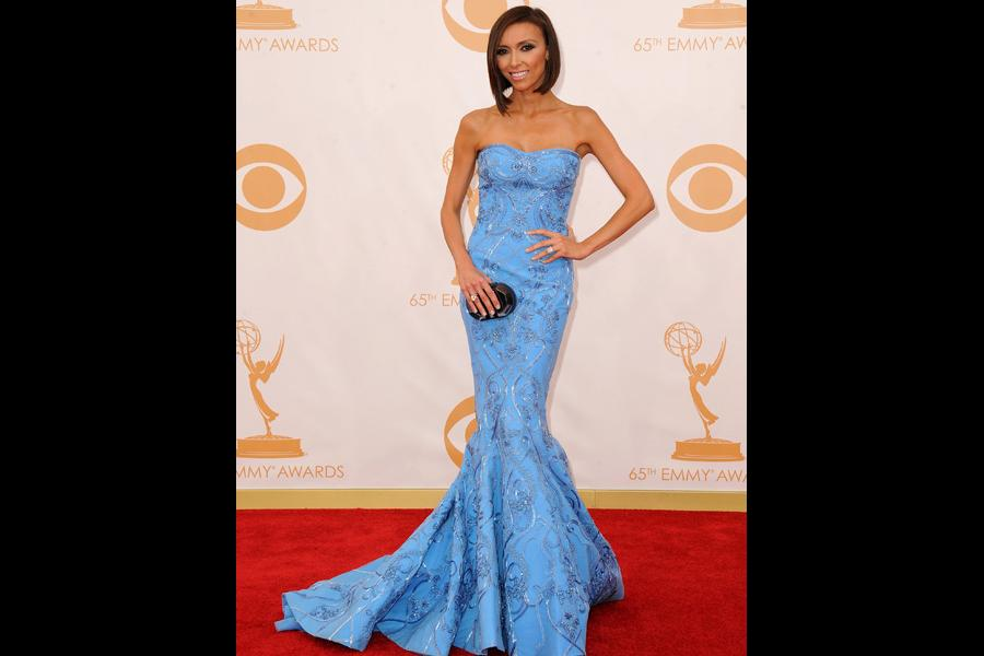 Giuliana Rancic on the Red Carpet at the 65th Emmys