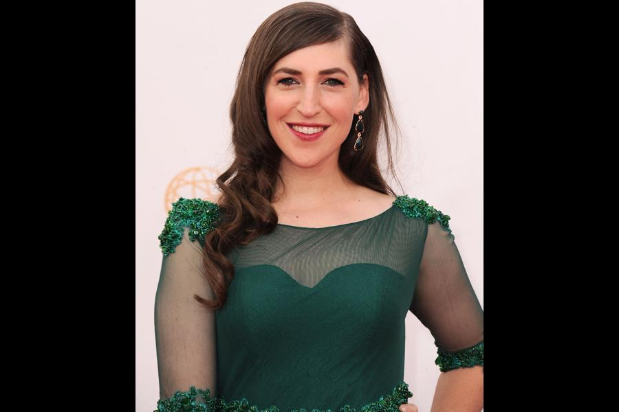 Mayim Bialik on the Red Carpet at the 65th Emmys