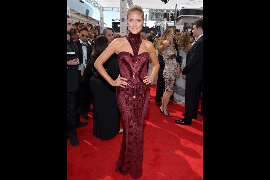 Heidi Klum on the Red Carpet at the 65th Emmys