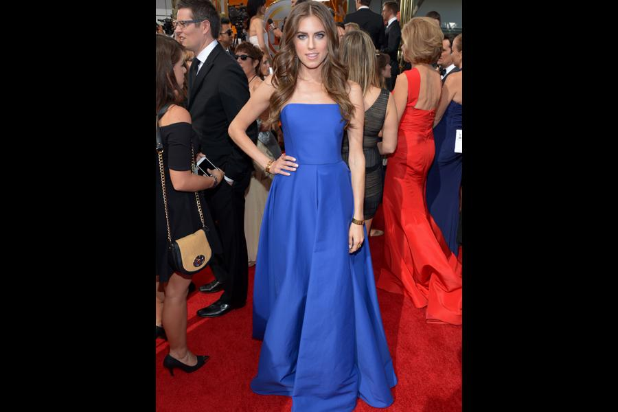 Allison Williams on the Red Carpet at the 65th Emmys
