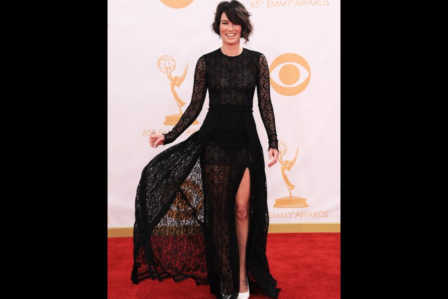 Lena Headey on the Red Carpet at the 65th Emmys
