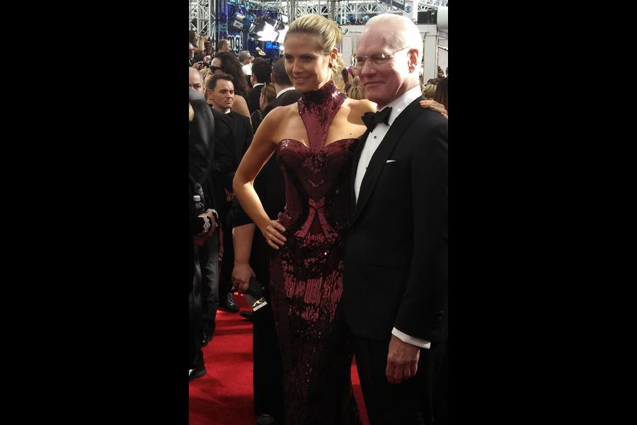 Heidi Klum and Tim Gunn on the Red Carpet at the 65th Emmys