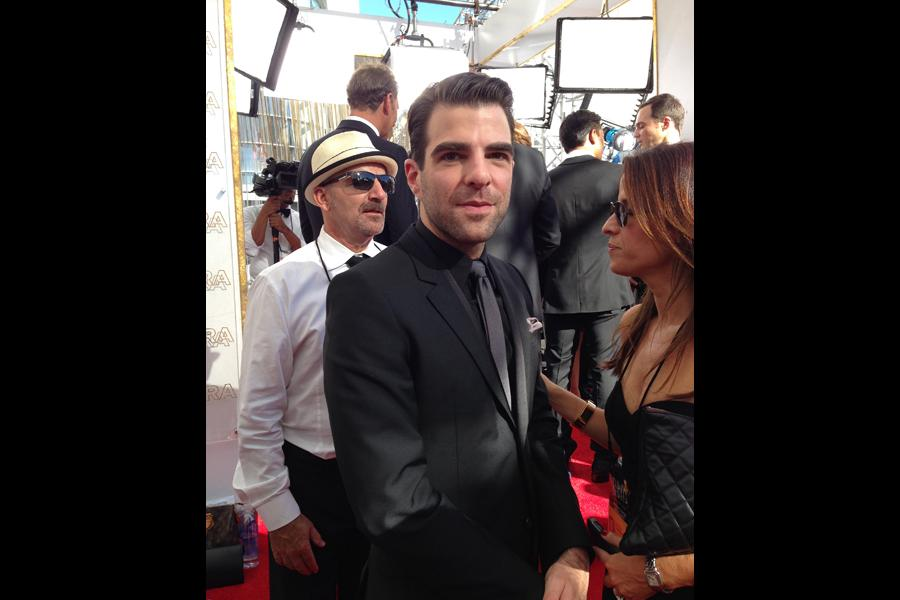 Zachary Quinto on the Red Carpet at the 65th Emmys