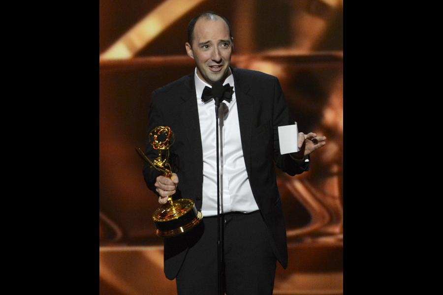 Tony Hale accepts the award for Outstanding Supporting Actor in a Comedy Series