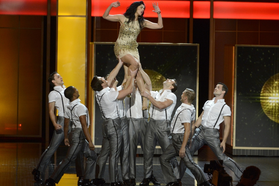 Sarah Silverman performs onstage at the 65th Emmys