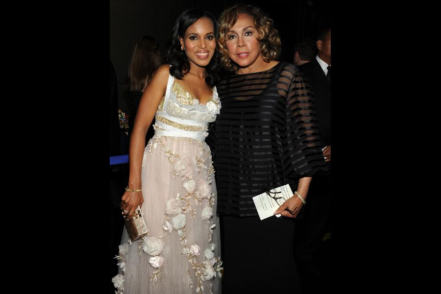 Kerry Washington and Diahann Carroll backstage at the 65th Emmys