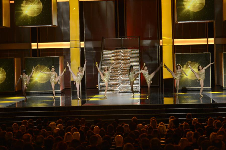 Dancers perform onstage at the 65th Emmys