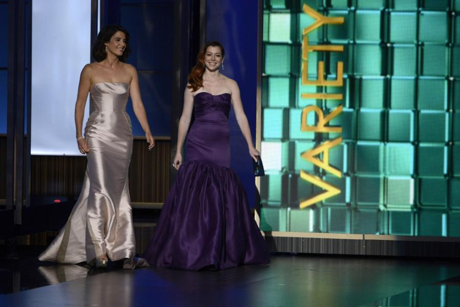 Alyson Hannigan and Cobie Smulder present the award for Outstanding Variety Series