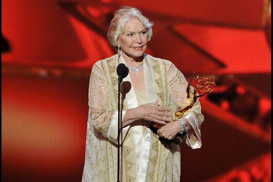 Ellen Burstyn on stage at the 65th Emmys