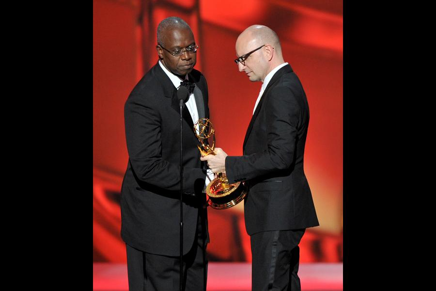 Andre Braugher presents the award for Outstanding Directing for a Miniseries