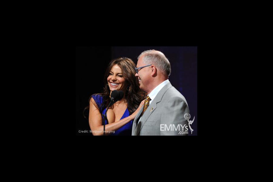 Sofia Vergara and Television Academy CEO John Shaffner