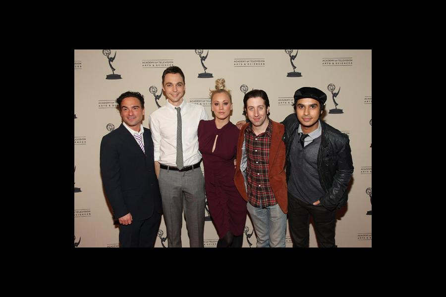 Johnny Galecki, Jim Parsons, Kaley Cuoco, Simon Helberg and Kunal Nayyar of The Big Bang Theory