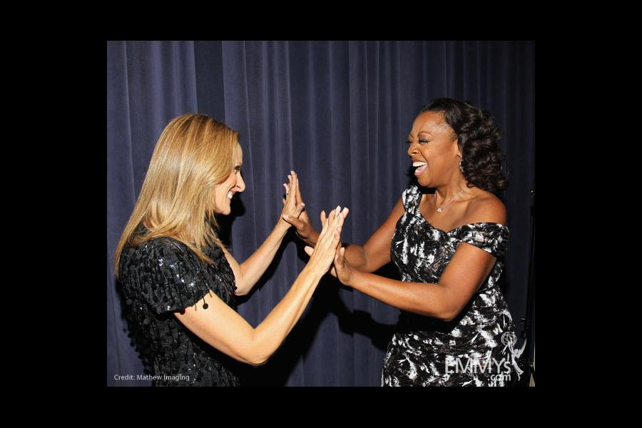 Marlee Matlin & Star Jones arrive at An Evening With Celebrity Apprentice