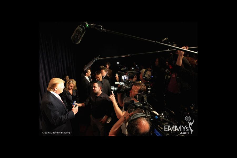 Donald Trump arrives at An Evening With Celebrity Apprentice
