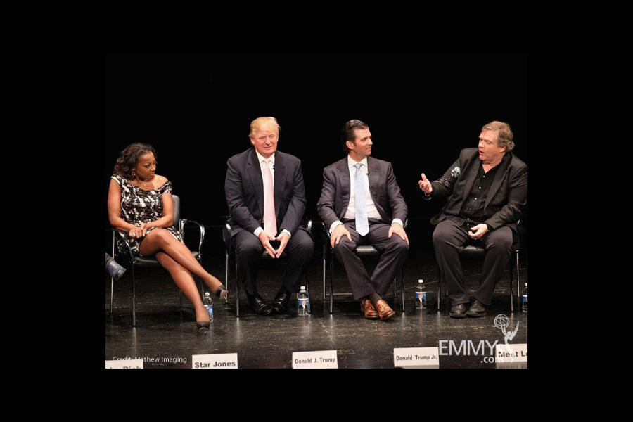 Star Jones, Donald Trump, Donald Trump Jr. & Meat Loaf at An Evening With Celebrity Apprentice